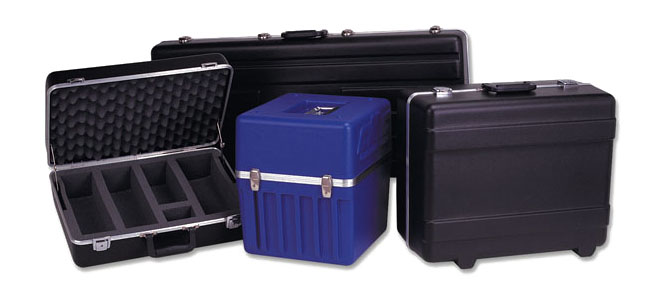 blue hard plastic carrying case