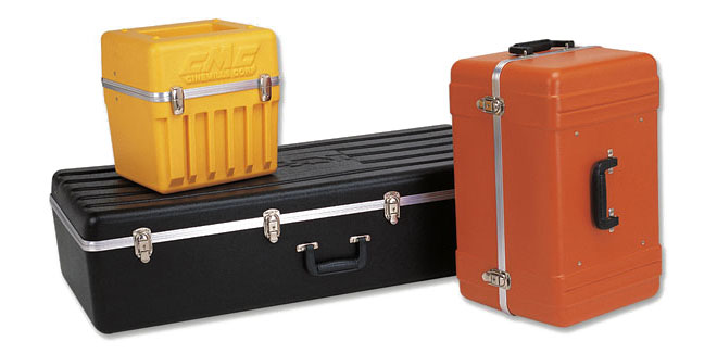 yellow and orange hard plastic carrying cases