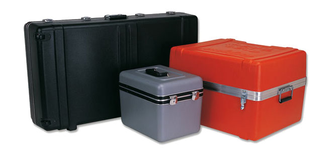 orange/red hard plastic carrying case